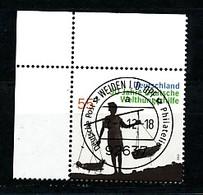 GERMANY Mi. Nr. 2928 50 Jahre Deutsche Welthungerhilfe - ET Weiden - Eckrand Oben Links - Used - [7] République Fédérale