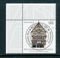 GERMANY Mi. Nr. 2931 Fachwerkbauten In Deutschland - ET Weiden - Eckrand Oben Links - Used - [7] République Fédérale