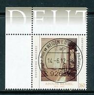 GERMANY Mi. Nr. 2937 Deutsche Malerei - Adolph Menzel - ET Weiden - Eckrand Oben Links - Used - [7] République Fédérale