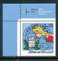 GERMANY Mi. Nr. 2932 Umweltschutz: Abfall Ist Rohstoff - ET Weiden - Eckrand Oben Links - Used - [7] République Fédérale