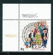 GERMANY Mi. Nr. 2939 150 Jahre Deutscher Chorverband - ET Weiden - Eckrand Oben Links - Used - [7] République Fédérale