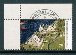 GERMANY Mi. Nr. 2940 Pfälzer Hütte - ET Weiden - Eckrand Oben Links - Used - [7] République Fédérale