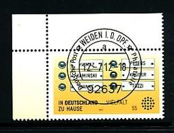 GERMANY Mi. Nr. 2941 In Deutschland Zu Hause - ET Weiden - Eckrand Oben Links - Used - [7] République Fédérale