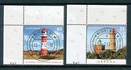 GERMANY Mi. Nr. 2942-2943 Leuchttürme - ET Weiden - Eckrand Oben Links - Used - [7] République Fédérale