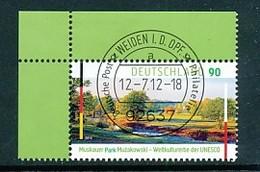 GERMANY Mi. Nr. 2944 UNESCO-Welterbe  - Muskauer Park - ET Weiden - Eckrand Oben Links - Used - [7] République Fédérale
