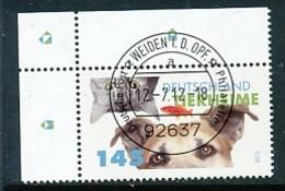 GERMANY Mi. Nr. 2945 Tierheime - ET Weiden - Eckrand Oben Links - Used - [7] République Fédérale