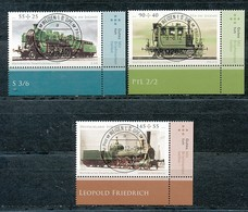 GERMANY Mi. Nr. 2946-2948 Jugend: Historische Dampflokomotiven - ET Weiden - Eckrand Unten Rechts - Used - [7] République Fédérale