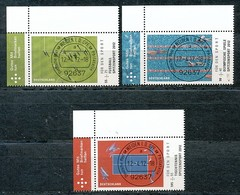 GERMANY Mi. Nr. 2924-2926 Sporthilfe: Spitzensport - ET Weiden - Eckrand Oben Links - Used - [7] République Fédérale
