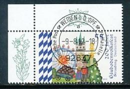 GERMANY Mi. Nr. 2950 200 Jahre Gäubodenvolksfest, Straubing - ET Weiden - Eckrand Oben Links - Used - [7] République Fédérale