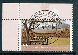 GERMANY Mi. Nr. 2953 Ferien In Deutschland - ET Weiden - Eckrand Oben Links - Used - [7] République Fédérale