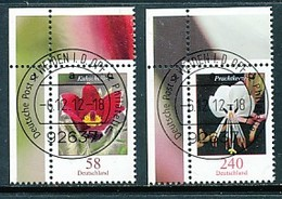 GERMANY Mi. Nr. 2968-2969 Freimarken: Blumen - ET Weiden - Eckrand Oben Links - Used - [7] République Fédérale