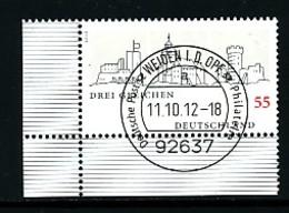 GERMANY Mi. Nr. 2959 Burgenensemble Drei Gleichen  - ET Weiden - Eckrand Unten Links - Used - [7] République Fédérale