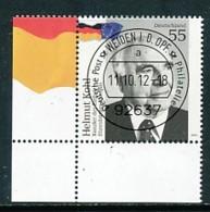 GERMANY Mi. Nr. 2960 Helmut Kohl  - ET Weiden - Eckrand Unten Links - Used - [7] République Fédérale