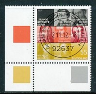 GERMANY Mi. Nr. 2962 Professoren Der Universität Göttingen - ET Weiden - Eckrand Unten Links - Used - [7] République Fédérale