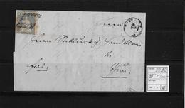 1854-1862 SITZENDE HELVETIA Ungezähnt (Strubel)  → Frei Frutigen Nach Thun SBK-23A2 - Covers & Documents
