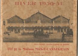 ORLEANS Fassicule De 48 Pages Avec De Nombreuse Pub Et Horaires Des Trains Et Autocars(hiver 1950 51) - Orleans