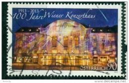 2013 -3072 - ° -  100 Jahre Wiener Konzdrthaus - 1945-.... 2. Republik