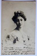 CPA Précurseur Artiste Théâtre Cabaret Boni Reutlinger Paris Très Belle Jeune Femme 1906 - Artistes