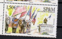 ST. PIERRE ET MIQUELON, SPM, 2018, MNH,END OF WWI, WWI,FLAGS, 1v - Prima Guerra Mondiale
