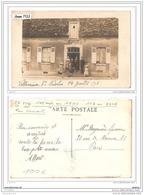 3452 AK/PC/CARTE PHOTO VILLENEUVE SAINT NICOLAS 14 JUILLET 1918 TTB - Francia