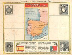 3) Grand Format De La Belle Jardinière Espagne Portugal Timbre Espagnol Portugais - Publicités