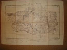 1925 Carte Militaire Camp De La VALBONNE Champ De Tir Service Géographique De L'Armée - Documents