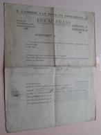 Kontrakt ( Blanco ) DECAP FRANS Zandstraat 61 Herentals ( Fabriek Van DANS- En FOORORGELS ( Zie Foto's ) ! - Old Paper