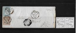 1854-1862 SITZENDE HELVETIA Ungezähnt (Strubel)  → Horgen Nach Bern ►SBK-23E/B3m & 22Da/B3.III  HIRZEL◄ - 1854-1862 Helvetia (Non-dentelés)
