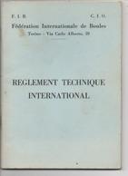 Petit Livre ( Féderation Internationale De Boules ) 1967 - Books, Magazines, Comics
