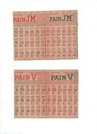 2 Carnets De Tickets De Rationnement Pain JM & V Février Mars 1949 Titre 4686 & 4701 Neufs - Non Classificati