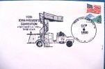"""ETATS UNIS Pompiers, Firemen, Bomberos. Oblitération Temporaire """"POMPIERS  5-9 SEPTEMBRE 1990 Trarer IOWA - Sapeurs-Pompiers"""