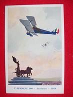 CAPRONI 100 TURISMO 1928 Cartolina Originale Dell'epoca DISEGNO FERRARI - 1939-1945: 2ème Guerre