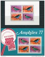 Suriname 1977. Michel Bl.18/19 MNH/Luxe. Birds. (Ts02) - Surinam