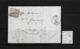 1854-1862 SITZENDE HELVETIA Ungezähnt (Strubel)  → Genf Nach Lancy ►SBK-22F/B1m◄ - Lettres & Documents