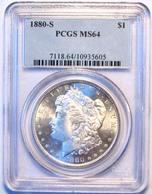 1880-S Morgan Silver Dollar. PCGS Certified MS64. M16. - Émissions Fédérales