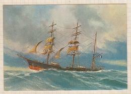 8AK4041 LE TROIS MATS BARQUE LA BANCHE LISLET 2 SCANS - Sailing Vessels