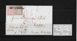 1854-1862 SITZENDE HELVETIA Ungezähnt (Strubel)  → Nachnahme Bützberg Nach Bern ►SBK-24D/B3 & 22D/B3◄ - Lettres & Documents