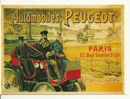 VIEILLE AFFICHE (CPM NUGERON) / AUTOMOBILES PEUGEOT - Cartes Postales