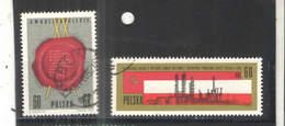 Polonia PO 1965 Trattato Con Russia   Scott.1317+1318+See Scan On Scaubek Page; - 1944-.... Repubblica