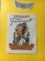 9156 - Fendant Farinet 1972 Carrupt-Michellod Leytron Suisse - Etiketten