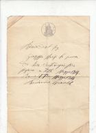 """ITALIA 1914 - Ricevuta Di Denaro Su Documento Ufficiale (REGNO D'ITALIA"""" ( In Filigrana) - Italie"""
