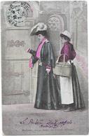 LOT DE 6 CPA COLORISEES FANTAISIE - HUMOUR - La Dame Et Le Sous Officier - DELC6/ENCH - - Cartes Postales