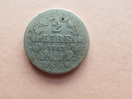 PIECE 2 LIRE ARGENT 1867. PAUL IX - 1861-1946 : Royaume