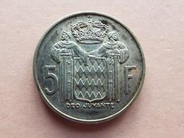 PIECE 5 FRANCS RAINIER III 1960 ARGENT - 1960-2001 Nouveaux Francs