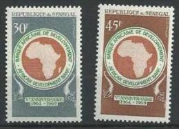 "Senegal YT 322 & 323 "" Banque Africaine "" 1969 Neuf** - Senegal (1960-...)"