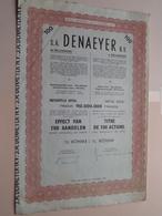 DENAEYER Willebroek / Nr. 079001 Tot 079100 : Effect Gecreëerd Na 1944 ( Zie Foto's ) ! - Actions & Titres