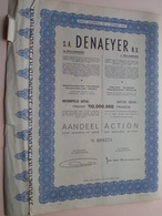 DENAEYER Willebroek / Nr. 099573 En 72 (gekleefd) : Effect Gecreëerd Na 1944 ( Zie Foto's ) ! - Actions & Titres