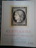 Album Centenaire Du Timbre-Poste Français 1849-1949 - Other