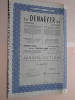 DENAEYER Willebroek / Nr. 099574 : Effect Gecreëerd Na 1944 ( Zie Foto's ) ! - Actions & Titres