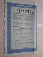 DENAEYER Willebroek / Nr. 099575 : Effect Gecreëerd Na 1944 ( Zie Foto's ) ! - Actions & Titres